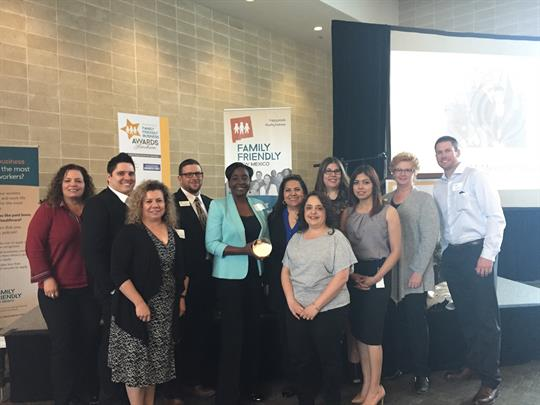 U.S. Eagle Federal Credit Union team at the 2018 Family Friendly Business awards ceremony