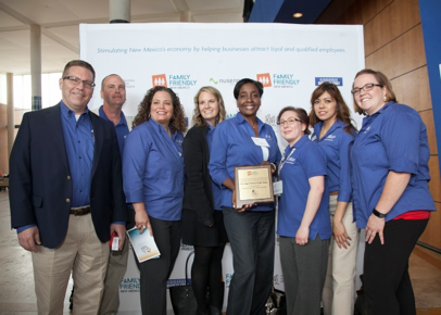U.S. Eagle Federal Credit Union team at the 2017 Family Friendly Business awards ceremony